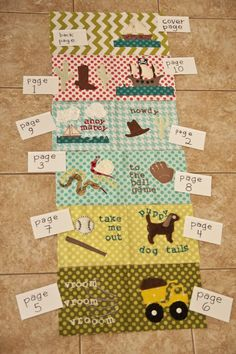 baby boy texture book from lellaboutique.blogspot.com. She also has one for girls.