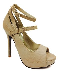 Look at this Cathy D Nude Maude Sandal on #zulily today!