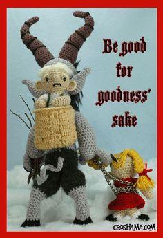 """Krampus doll. """"Be good. For goodness' sake!"""""""