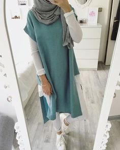 26 ideas sport style clothes casual for 2019 Islamic Fashion, Muslim Fashion, Modest Fashion, Fashion Outfits, Dress Fashion, Hijab Outfit, Hijab Casual, Ootd Hijab, Modest Dresses