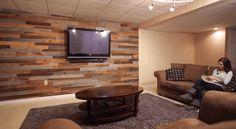 DIY reclaimed wood wall