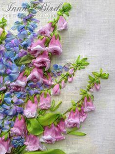 FRAMED Summer Splendour Silk Ribbon by SilkRibbonCreative on Etsy