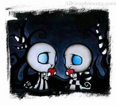 Image detail for -Love :: Cartoon Emo Love picture by Sunshine_dark - Photobucket Emo Love, Emo Pictures, Heart Pictures, Emo Pics, Amor Emo, Emo Kunst, Emo Cartoons, Disney Canvas Paintings, Emo Art