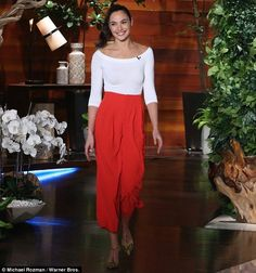 Debut: Gal Gadot revealed on Tuesday to Ellen DeGeneres that she was totally uncool when she landed the role of Wonder Woman in Batman v Superman