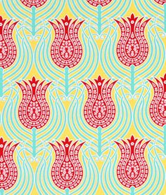 Joel Dewberry Tulips Canary Fabric