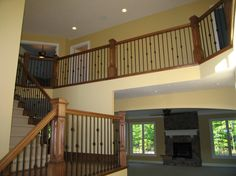 Custom stair and rail system we recently completed in Country Club Estates!