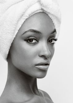 Jourdann Dunn Towel Series by Mario Testino