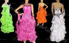 STANDARD DRESS COMPETITION BALLROOM CRYSTAL DRESS ST29 #LATINODANCE2008