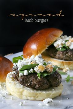 Spiced Lamb Burger by Nutmeg Nanny