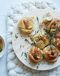 Garlic Knots with Frizzled Herbs | Food & Wine