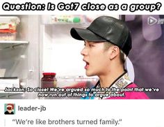 Got7's touching family dynamic..