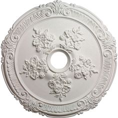Attica With Rose Ceiling Medallion Ekena Millwork Unfinished Ceiling Medallions Lighting A