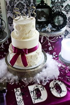 Initials On Top Of The Cake Instead Of People, Good For Future Home Decor Use.