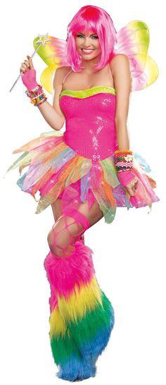 Rainbow+Fairy+Rave+Dress from Buycostumes.com