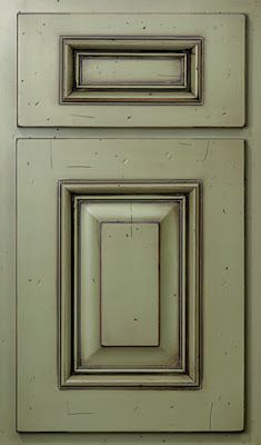 These do-it-yourself painted cabinets look very custom. Savvy Southern Style: I Can Almost See the Light
