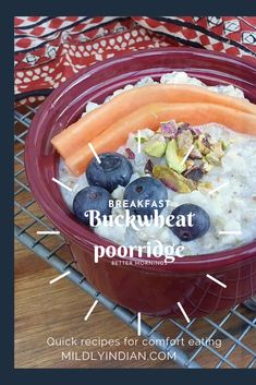A comforting breakfast buckwheat porridge with fruits #grainsandseeds #proteinrich #porridge #glutenfree #breakfast #buckwheat #glutenfreegrains #wholesome Gluten Free Grains, Grain Foods, Buckwheat, Pressure Cooking, Quick Recipes, Fresh Fruit, Glutenfree, Acai Bowl, Food To Make