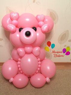 Медведь из шаров