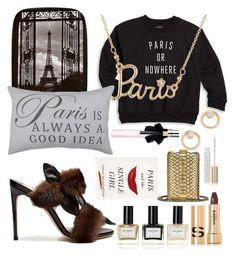 """Paris"" by slytherinemily on Polyvore featuring Knowlita, Park B. Smith, Les Néréides, Olgana, Kate Spade, Yves Saint Laurent, Chanel, Balmain, Sisley and L'Oréal Paris"