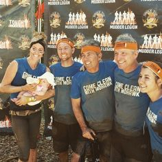 Team Mohawk with their muddy finish at #ToughMudder Tahoe. Check out the toughest Mama! #comecleanwithmohawk