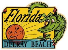 Vintage 1950 s style vero beach fl florida retro travel decal sticker state map cavallini destinations vintage travel stickers country stickers craft stickers scrapbooking gift Mexico Beach Florida, Delray Beach Florida, Old Florida, Florida Beaches, Miami Florida, Englewood Florida, Florida Style, Miami Beach, Palm Beach