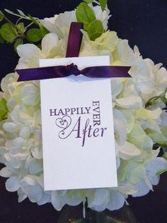 Wedding Wish Tree Tags New Style Dark Purple