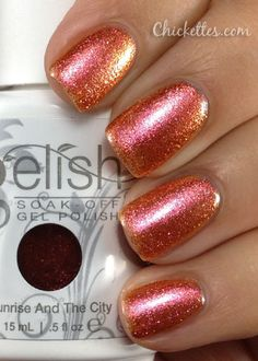 Gelish Sunrise and the City Swatch.... Been lookin for this color :( cant find it ...