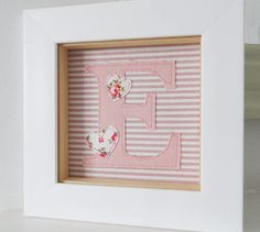 Box frame with fabric letter