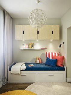Дизайн проект П44т, интерьер, перепланировка П44-т, детская, гостиная