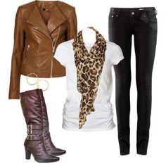 Como usar bota montaria com calça jeans e jaqueta de couro