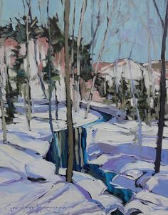 """""""Canadian landscape inspires Gordon Harrison's work and his life. Gordon Harrison is in a happy place following his heart, awakening his senses in a landscape playground. He has developed into one of Canada's foremost landscape painters. That ease of expression has been a long-time gift. Lost in a world of colour and possibility where paint [...] Read more"""