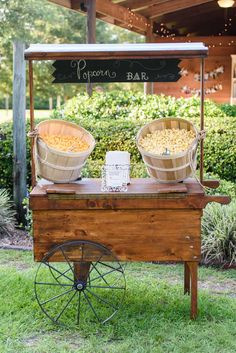 Guests can eat the popcorn at the wedding or take a bag home as a wedding favor! - The Celebration Society