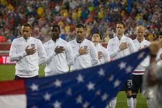 The U.S. Men's National Team during the National Anthem at Raymond James Stadium in Tampa, Fla.