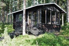 Cabins In The Woods, Cottage Homes, Gazebo, Exterior, Outdoor Structures, House Design, Cob Houses, Tiny Houses, Architecture