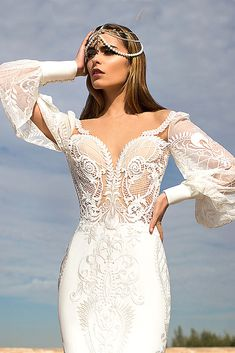 wedding dresses with feminine details 5