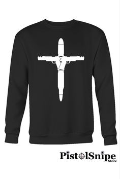 Guns Bullets Cross Crewneck Sweatshirt at $28.95