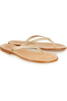 Musa|Braided metallic leather sandals|NET-A-PORTER.COM