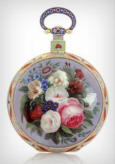a rare gold and enamel op Enamel Jewelry, Pendant Jewelry, Antique Jewelry, Jewelry Box, Vintage Jewelry, Fine Jewelry, Jewellery, Antique Watches, Antique Clocks