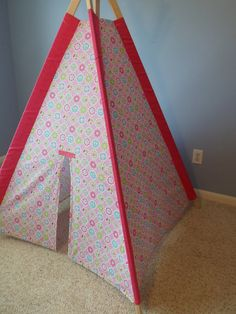 Pink Peace Sign Play Tent Kids Teepee Childrens by TexasTeePees, $100.00