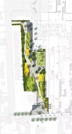 Landscape And Urbanism, Landscape Elements, Landscape Design Plans, Landscape Architecture Design, Urban Landscape, Masterplan Architecture, Architecture Collage, Architecture Graphics, Architecture Drawings