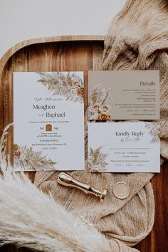 Orange Wedding Invitations, Wedding Invitation Inspiration, Wedding Invitation Suite, Wedding Invitation Templates, Rose Wedding, Spring Wedding, Dream Wedding, Earth Tone Wedding, Neutral Wedding Colors