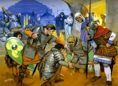 Norman mercenary knights in Constantinople