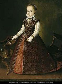 Portrait Of Anna Caterina Gonzaga (1566-1621) by (after) Orazio Vecellio