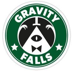 Gravity Falls - Starbucks Sticker Culture Pop, Geek Culture, Steven Universe, Dipper E Mabel, Grabity Falls, Pinecest, Mabill, Desenhos Gravity Falls, Gravity Falls Bill