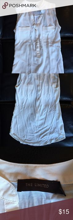 Women's Size Small Dressy Off-White Blouse Women's Size Small Dressy Off-White Blouse, The Limited. In okay condition. Lighting in pictures makes it look discolored, but that is not the case. The Limited Tops Blouses