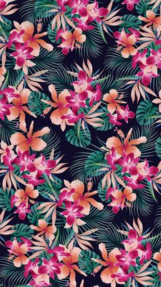 Ideas Wall Paper Flores Tropicales For 2019 Tropical Wallpaper, Summer Wallpaper, Trendy Wallpaper, Aesthetic Iphone Wallpaper, Cute Wallpapers, Flowers Wallpaper, Wallpaper Backgrounds, Hibiscus Drawing, Hibiscus Tattoo