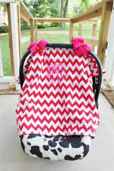 Super cute car seat canopy from www.mylaboutique.com