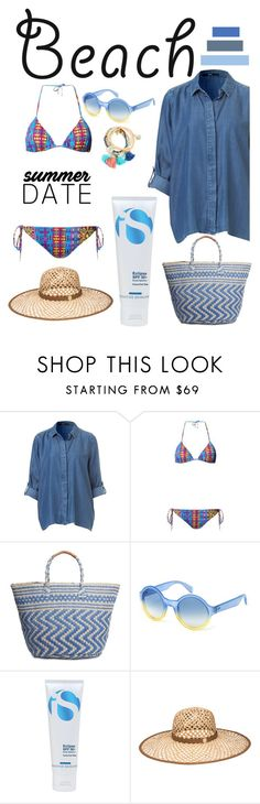 """""""Summerdate"""" by pamela-802 ❤ liked on Polyvore featuring Matthew Williamson, Lucky Brand, Marc by Marc Jacobs, La Roche-Posay, Henri Bendel, beach and summerdate"""