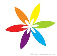 Colorful Floral Element