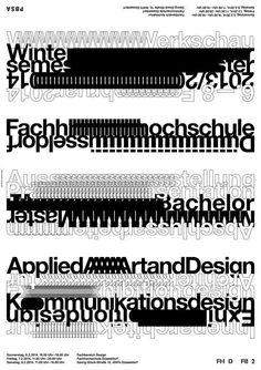Werkschau Wintersemester 2013/2014 FH Düsseldorf | Slanted - Typo Weblog und Magazin