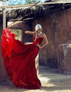 Velvet #6 January 2012 - Photographer: Sylvio Kühn - red dress